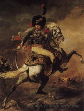The Charging Chasseur  (An Officer Of The Imperial Horse Guards Charging)