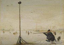 Winterlandschap Met Een Eendenjager  (Winter Landscape With A Hunter Ducks)