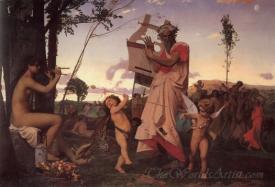 Anacron Bacchus And Cupid