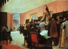 A Session Of The Painting Jury  (Members Of The Jury Of The Salon)