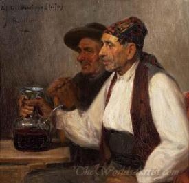 Bebiendo Del Porron  (Drinking The Porron)