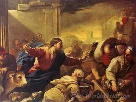 Christ Expelling The Traders From The Temple