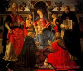 The Virgin And Child Enthroned Between Saints And Angels