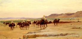 Caravanes De Sel Dans Le Desert  (Salt Caravans In The Desert)