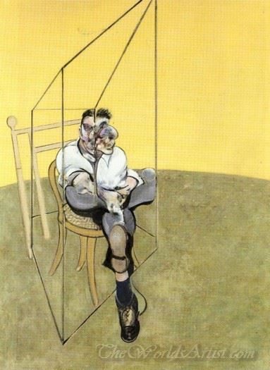 Three Studies Of Lucian Freud 1969