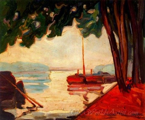 Barcazas En El Sena  (Barges On The Seine)