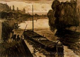 Barcaza En Neuilly  (Barge In Neuilly)