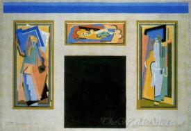 Boceto Para La Decoracion De La Nueva Aula Magna  (Sketch For The Decoration Of The New Hall)
