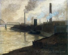 Industrial Scene Mills On The Monongahela