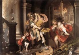 Aeneas Flight From Troy