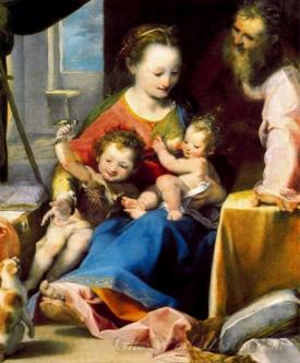 The Holy With Family The Infant Baptist