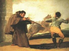 Friar Pedro Shoots El Maragato As His Horse Runs Off