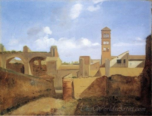 View Of The Church Of Santa Francesca Romana And The Basilica Of Constatine
