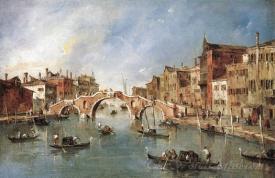 The Three Arched Bridge At Cannaregio