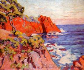 Rocks On The Coast At Agay