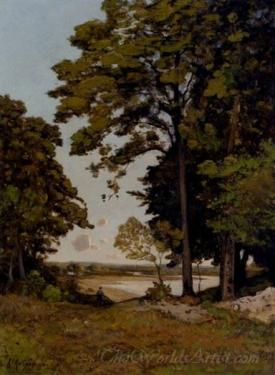 A Summers Day On The Banks Of The Allier  (Lisiere De Bois Sur Les Bords De Lallier)