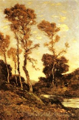 Autumnal River Landscape