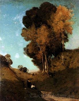 Ravin Souvenir De La Campagne De Rome  (Ravine Rememberence The Countryside Of Rome)