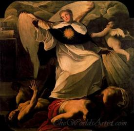 Santo Tomas De Aquino Venciendo A Los Herejes  (St. Thomas Aquinas Conquering The Heretics)