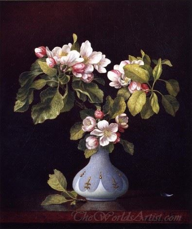 Apple Blossoms In A Vase