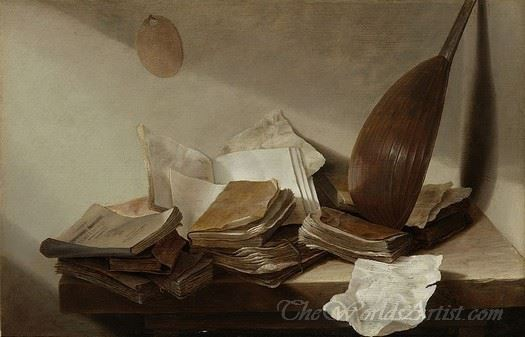 Still Life With Books And A Violin
