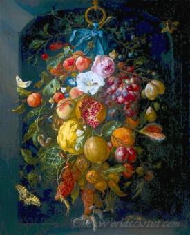 Festoon Of Fruit And Flowers