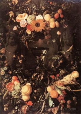 Fruit And Flower Still Life