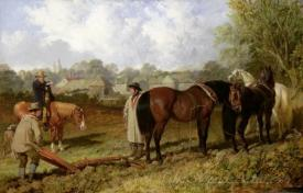 Morning Preparing To Plough 1848
