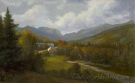 Franconia Notch From Woodstock