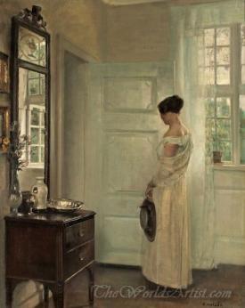 Salon Interior With A Woman