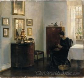 Woman With A Fruit Bowl
