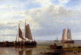 Shipping In A Calm Estuary