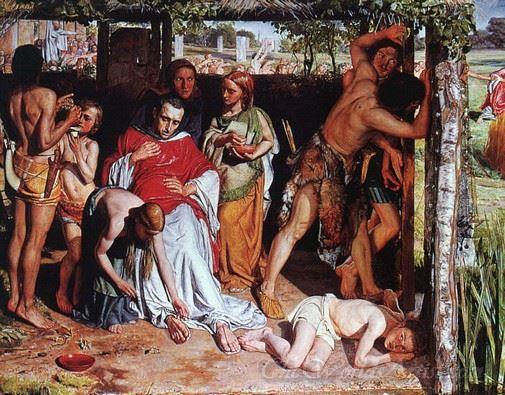 A Converted Family Sheltering A Christian Missionary From The Druids