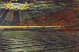 Fishingboats By Moonlight