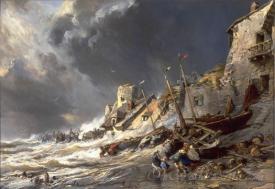 Brittany Coast Scene Saint Malo