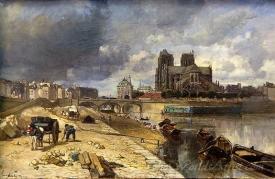Paris Notre Dame From The Quai De La Tournelle