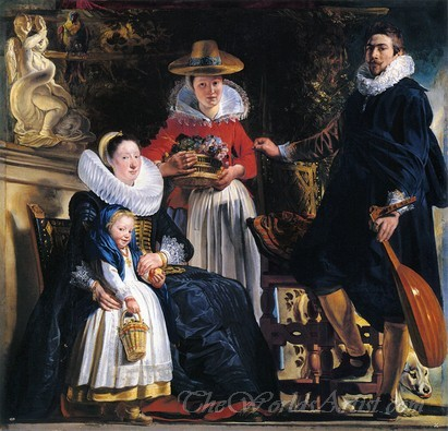 Jordaens Family In A Garden