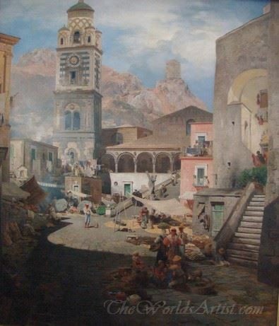 Market Square In Amalfi