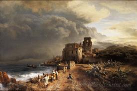 Retreating Storm On The Italian Coast