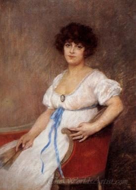 Portrait Of A Seated Lady