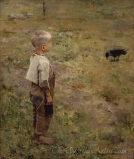 Boy With A Crow