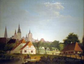 View Of Rostock From The Gertrudenplatz