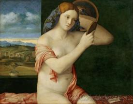 Nude Woman In Front Of The Mirror