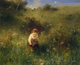 Girl In A Field