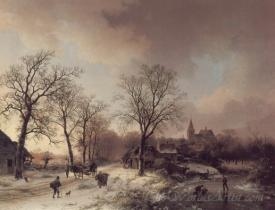 Figures In A Winter Landscape