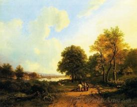 Peasants On A Path By A River