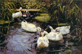 Ducks On A Reed