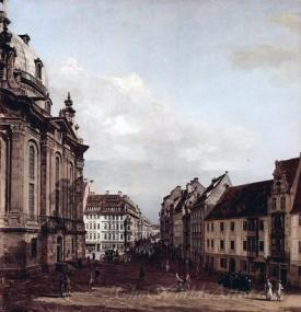 Dresden The Frauenkirche And The Rampische Gasse