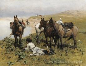 Resting Riders The Caucasus