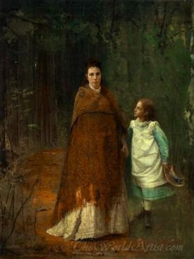 Portrait Of The Artists Wife And Daughter